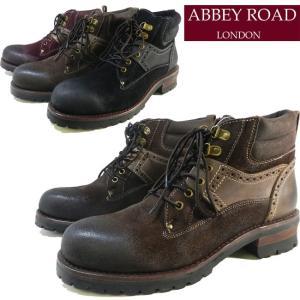 ABBEY ROAD アビーロード ビンテージ加工デザイン本革レザーショートワークブーツ AB6005|ibc