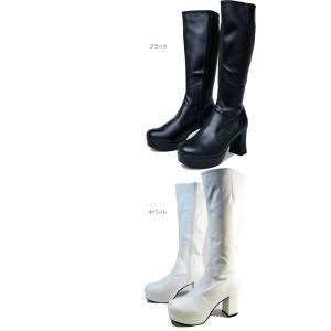 厚底ブーツ ストレッチブーツ ボリューム ヒール デザイン 厚底  ロングブーツ ストームブーツ 723|ibc|02