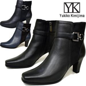 Yukiko Kimijima ユキコ キミジマ 本革レザーショートブーツ ブーティー 1008 ibc