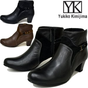 Yukiko Kimijima ユキコ キミジマ 本革レザーショートブーツ ブーティー 7630 ibc