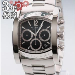 ブルガリ BVLGARI アショーマ クロノグラフ AA48SCH メンズ 自動巻 ウォッチ 腕時計...