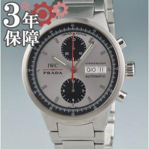 7273c81fb22b 3年保証 IWC 時計 限定 for PRADA GSTクロノ IW370802 メンズ 自動巻 2405001042444 中古