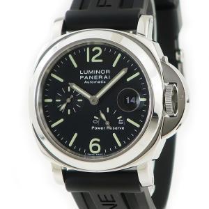 パネライ PANERAI ルミノール パワーリザーブ PAM00090 D番 メンズ 腕時計 自動巻き ブラック 中古|ibe7171