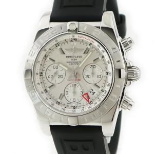 ブライトリング BREITLING クロノマット44 GMT AB0420 OH済 メンズ 腕時計 自動巻き シルバー 中古|ibe7171
