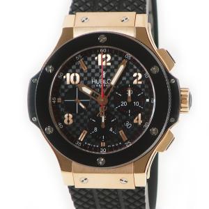 ウブロ HUBLOT ビッグバン 301.PB.131.RX K18RG レッドゴールド メンズ 腕時計 自動巻き ブラック 中古|ibe7171