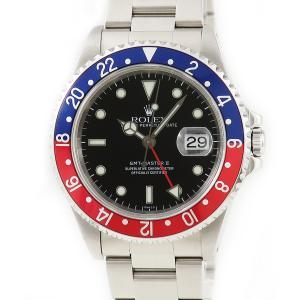ロレックス ROLEX GMTマスター2 16710 A番 ペプシ メンズ 腕時計 自動巻き ブラック 中古|ibe7171