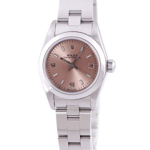 ロレックス ROLEX オイスターパーペチュアル 76080 OH済 レディース 腕時計 自動巻き ピンク 中古|ibe7171