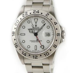 ロレックス ROLEX エクスプローラー2 16570 S番 白 トリチウム メンズ 腕時計 自動巻き ホワイト 中古|ibe7171