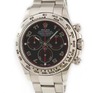 ロレックス ROLEX デイトナ 116509 K18WG無垢 Z番 黒x赤 メンズ 腕時計 自動巻き ブラック 中古|ibe7171