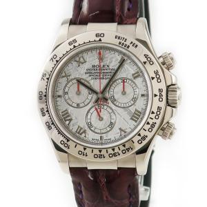 ロレックス ROLEX デイトナ 116519 K18WG無垢 メテオライト D番 メンズ 腕時計 自動巻き シルバー 中古|ibe7171