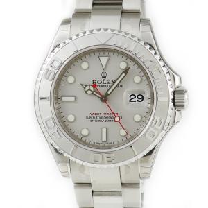 ロレックス ROLEX ヨットマスター ロレジウム 16622 未使用 保護シール付 V番 ロレジウム メンズ 腕時計 自動巻き シルバー 中古|ibe7171