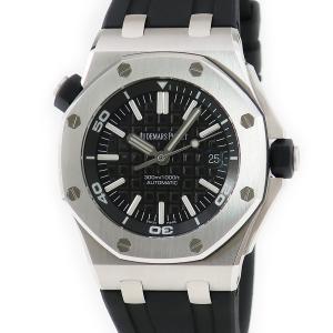 オーデマピゲ AUDEMARS PIGUET ロイヤルオーク オフショア ダイバー 15703ST.OO.A002CA.01 メンズ 腕時計 自動巻き ブラック 中古|ibe7171