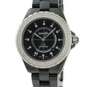 シャネル CHANEL J12 H2014 純正ダイヤ ブラック メンズ 腕時計 自動巻き ブラック...