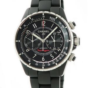 シャネル CHANEL J12 スーパーレッジェーラ H3409 マットブラック メンズ 腕時計 自...