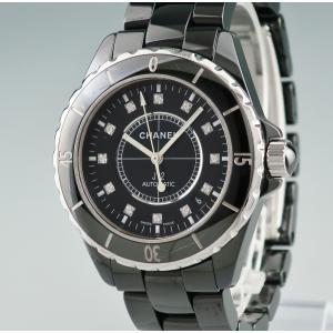 9f8e27bffd73 3年保証 シャネル 時計 J12 純正ダイヤ ブラックセラミック H1626 自動巻 メンズ 2405010011301中古