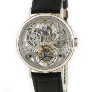 ブレゲ BREGUET クラシック トゥールビヨン スケルトン 3450 Pt950xK18PG メーカーOH済 メンズ 腕時計 手巻き シルバー 中古|ibe7171