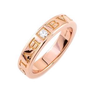 ブルガリ BVLGARI リング 指輪 ダブルロゴ リング 1Pダイヤモンド K18PG 750 1...