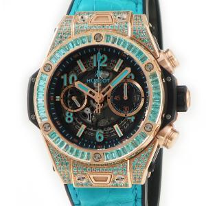 ウブロ HUBLOT ビッグバン ウニコ パライバ 411.OX.1189.LR.0919 K18 キングゴールド メンズ 腕時計 自動巻き 中古|ibe7171