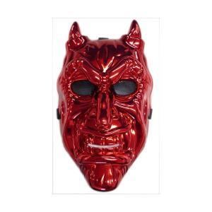 メタリックマスク 赤鬼 ホラーグッズ|ibepara