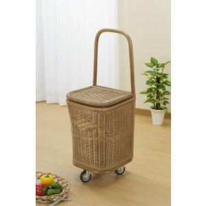 ラタン 籐ショッピングカート R207 籐家具 【送料無料 代引不可】|ibepara
