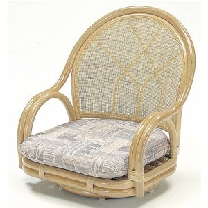籐椅子 籐の椅子 回転椅子 座椅子 ラタン ロータイプ 座面高18cm S-361 父の日 母の日【送料無料 代引不可】|ibepara