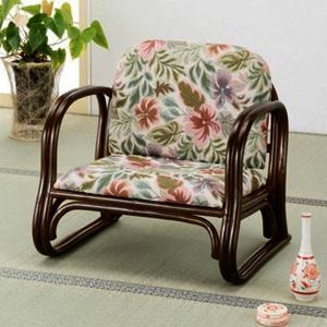 ラタン籐家具 籐デラックス思いやり座椅子 ロータイプ S-123 籐家具 ラタン家具 座椅子 敬老の集い ※代引不可|ibepara