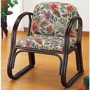 ラタン籐家具 籐デラックス思いやり座椅子ハイタイプ S-124 籐家具 ラタン家具 座椅子 敬老の集い ※代引不可|ibepara