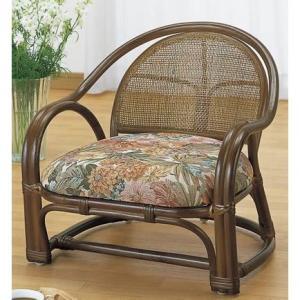 ラタン籐家具 アームチェアー ロータイプ 1脚売 TK-100 籐家具 ラタン家具 座椅子 敬老の集い ※代引不可|ibepara