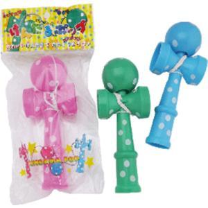 けん玉 ポップ かわいい水玉模様のけん玉 1個162円 48個販売 ノベルティグッズ|ibepara