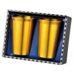金色のペアタンブラーセット 1個セット タンブラー ギフト 縁起のいい金色タンブラー|ibepara