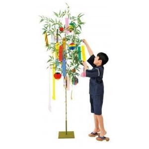 七夕イベントセット 笹(高さ210cm)・短冊など一色がそろったイベントセット|ibepara