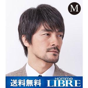 メンズウィッグ オム・リーブル カジュアルスタイル M グレー15% J-0615 医療用 かつら ウィッグ メンズウィッグ|ibepara