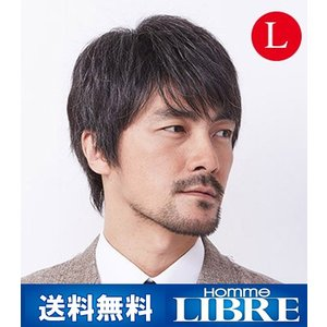 メンズウィッグ オム・リーブル カジュアルスタイル L グレー15% J-0616 医療用 かつら ウィッグ メンズウィッグ|ibepara