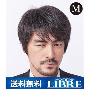 メンズウィッグ オム・リーブル ベーシックスタイル M グレー15% J-0621 医療用 かつら ウィッグ メンズウィッグ|ibepara