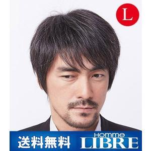 メンズウィッグ オム・リーブル ベーシックスタイル L グレー15% J-0622 医療用 かつら ウィッグ メンズウィッグ|ibepara