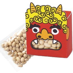 福豆赤鬼パック(約30g入) 1個123円 100個販売 節分 定番 豆まき 代引不可|ibepara