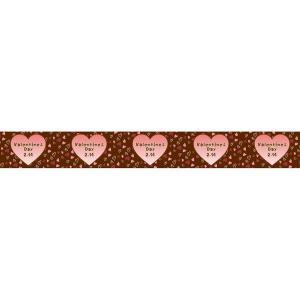 バレンタイン ディスプレイ ロール幕 ハートバレンタイン 60×500cm|ibepara