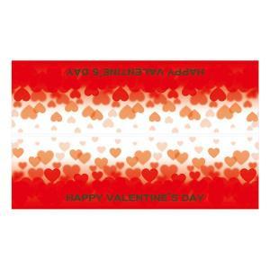 バレンタイン ディスプレイ ウィンドウ装飾 ウィンドウステッカー ハート横長タイプ 60×100cm 自己吸着タイプ|ibepara