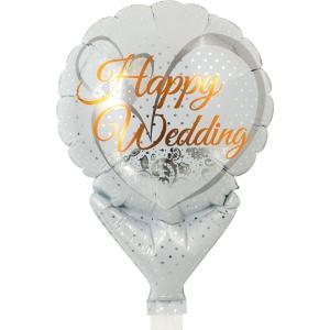 風船 パーティー用バルーン メッセージ柄 ハッピーウエディング レースホワイト 風船 10枚販売 ibepara
