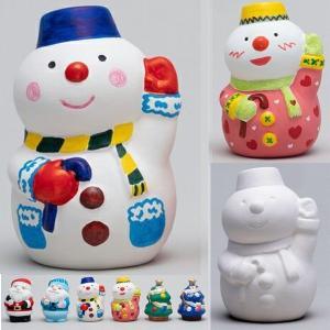 お絵描き陶器 クリスマス スノーマン KT-4 ...の商品画像