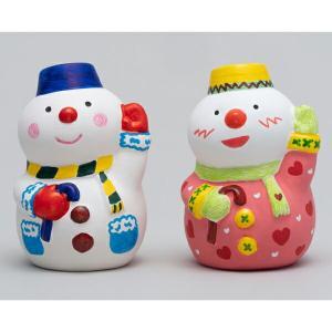 お絵描き陶器 クリスマス スノーマン KT-4...の詳細画像1