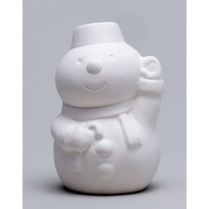 お絵描き陶器 クリスマス スノーマン KT-4...の詳細画像2