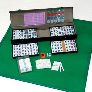 麻雀セット マット付麻雀牌セット 携帯に便利 持運び可能なセット|ibepara