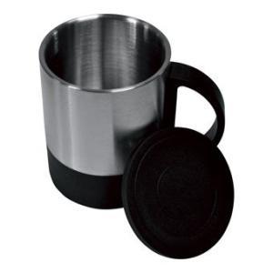 ステンレス二重マグカップ フタ付