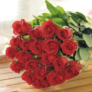 プレゼント バラの花束20本(メッセージカード 切花延命剤 お手入れのしおり付き)E7102-07 【代引不可】 ibepara