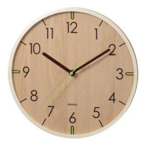 球面ガラスのウッドウォールクロック ライトブラウン YW9112WH 掛時計 掛け時計 壁掛け時計 新生活応援|ibepara