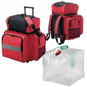 防災キャリーバッグ 水タンクセット 36840 防災グッズ 防災バッグ|ibepara
