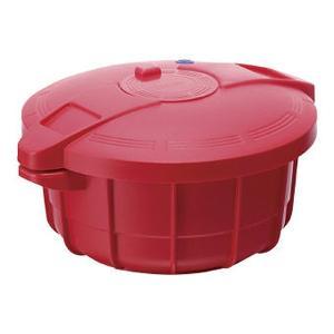 マイヤー 電子レンジ圧力鍋2.3L イタリアンレッド MPC-2.3IR 新生活応援 電子レンジ専用調理鍋|ibepara