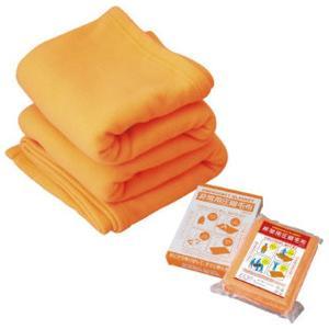非常用圧縮毛布 AM-001 オレンジ色 毛布 防災グッズ 防災用品|ibepara