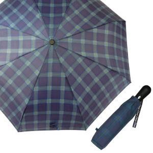 クロス 開閉ジャンプミニ傘 格子 紺 CR4111A ジャンプ 折りたたみ傘 自動開閉 雨傘|ibepara
